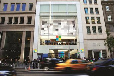 Microsoft's new store on Fifth Avenue